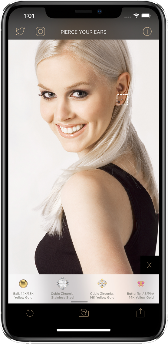 The STUDEX® Ear Piercing App: Disponible pour iOS et Android