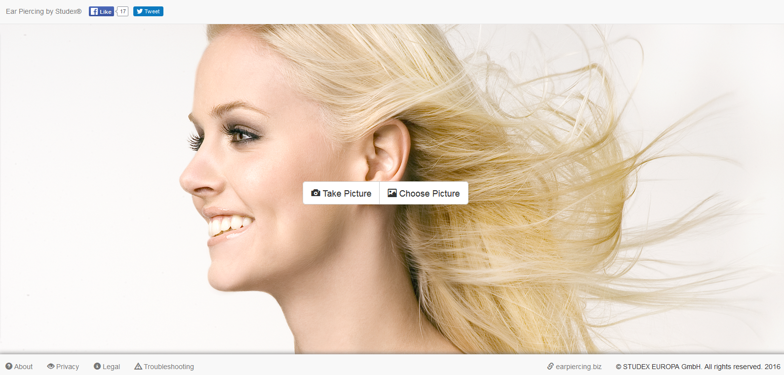The STUDEX® Ear Piercing App: html version for PCs